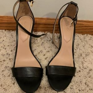 Aldo strappy black heal